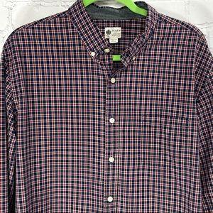 J. Crew men's washed tartan plaid shirt XL